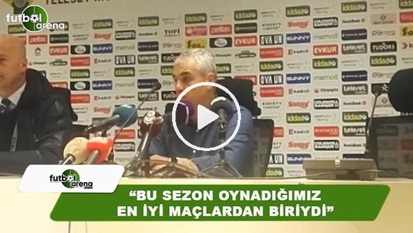 """RIza Çalımbay: """"Bu sezon oynadığımız ne iyi maçlardan biriydi"""""""