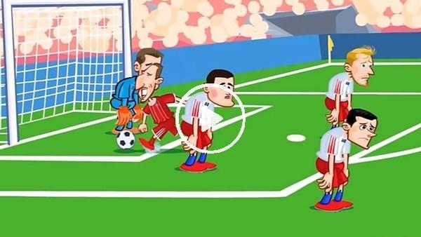 Bayern Münih - Hamburg maçı animasyon film oldu