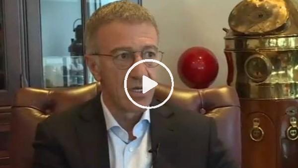 Ahmet Ağaoğlu, Trabzonspor başkanlığına adylığındna sonra ilk kez konuştu