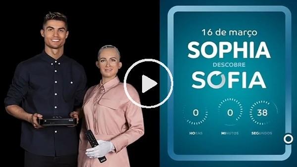 Robot Sofia, Cristiano Ronaldo ile birlikte kameraların karşısında!