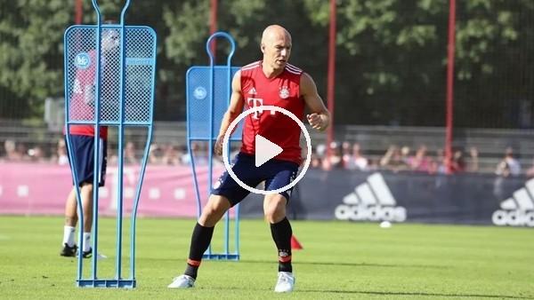 Arjen Robben antrenmanda döktürdü
