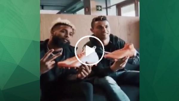 Cristiano Ronaldo, Odell Beckham'ı evinde ağırladı