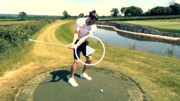 Gareth Bale, golf oynayıp stres attı!