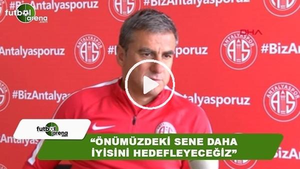 """Hamza Hamzaoğlu: """"Önümüzdeki sene daha iyisini hedefleyeceğiz"""""""