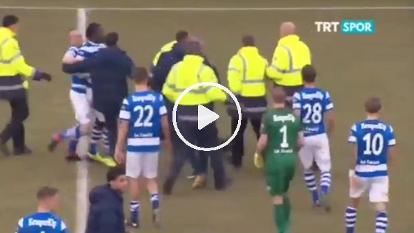 Hollanda Ligi'nde saha bir anda karıştı