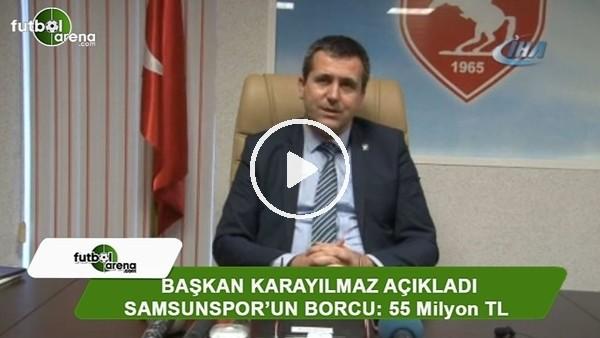 Samsunspor'un borcu Samsun'un plakası civarında