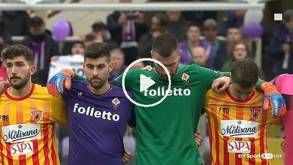 Davide Astori için saygı duruşu!