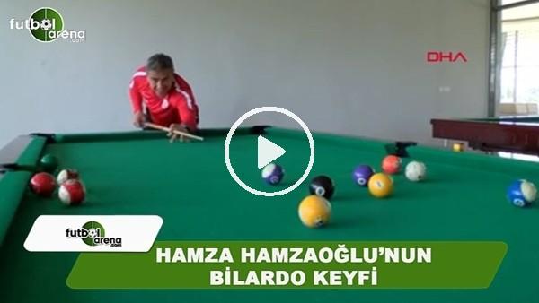 Hamza Hamzaoğlu'nun bilardo keyfi