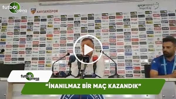 """Mesut Bakkal: """"İnanılmaz bir maç kazandık"""""""