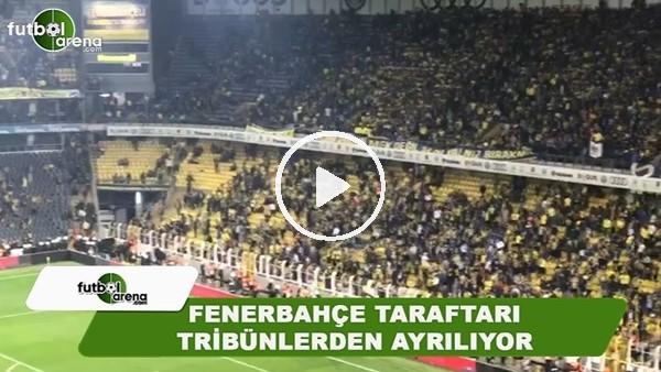 Fenerbahçe taraftarları maçın iptal kararından sonra tribünlerden ayrıldı