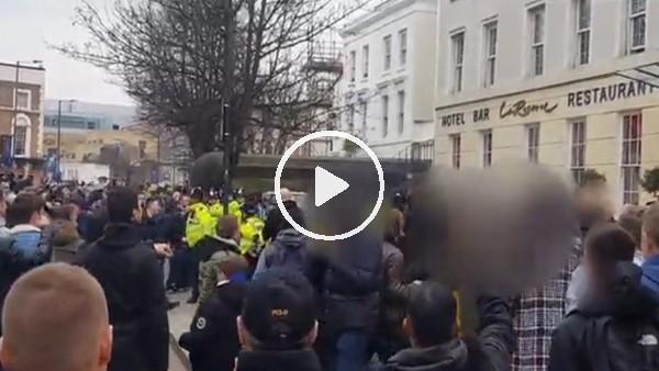 'Tottenham taraftarı ile polis arasında arbede yaşandı