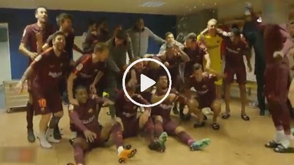 Barcelona şampiyonluğunu böyle kutladı!