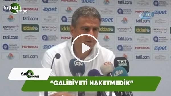 """Hamza Hamzaoğlu: """"Galibiyeti haketmedik"""""""