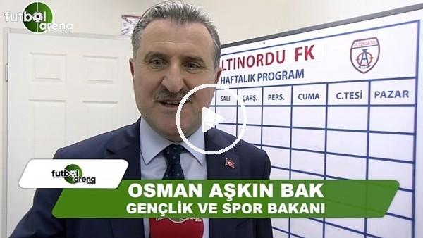 """Spor Bakanı Osman Aşkın Bak: """"Teröre ve uyuşturucuya karşı spor çok önemli"""""""