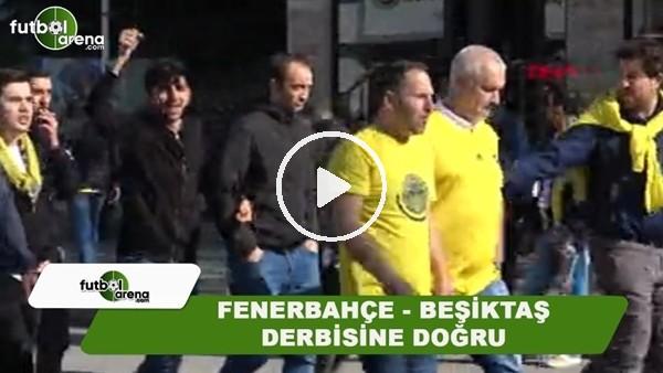 Fenerbahçeli taraftarlar, derbi öncesi toplanmaya başladı