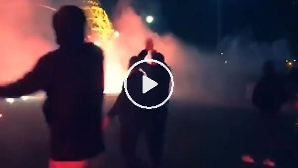 PSG taraftarı Eyfel Kulesi'ni yaktı!