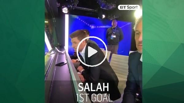Steven Gerrard, Muhammed Salah'ın golünde kendinden seçti