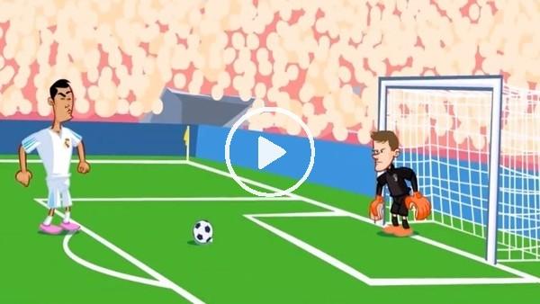 Real Madrid - Juventus maçı animasyon film oldu