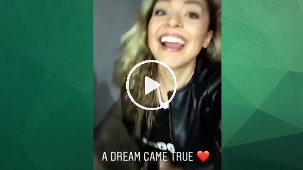 Brezilyalı model, Talisca'nın golünden sonra yerinde duramadı