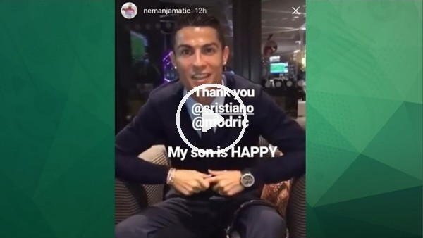 Cristiano Ronaldo'dan Matic'in oğluna doğum günün sürprizi