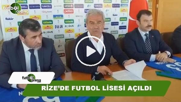 Rize'de futbol lisesi açıldı