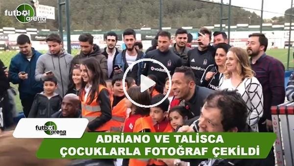Beşiktaş'ta Adriano ve Talisca, çocuklarla fotoğraf çekildi