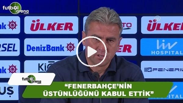 """Hamza Hamzaoğlu: """"Fenerbahçe'nin üstünlüğünü kabul ettik"""""""