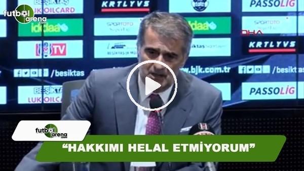 """Şenol Güneş bombaladı! """"Hakkımı helal etmiyorum"""""""