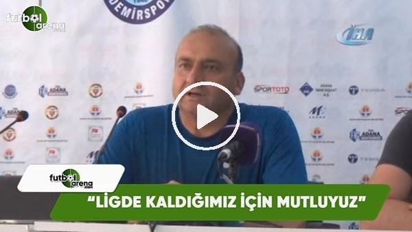 """Mustafa Uğur: """"Ligde kaldığımız için mutluyuz"""""""