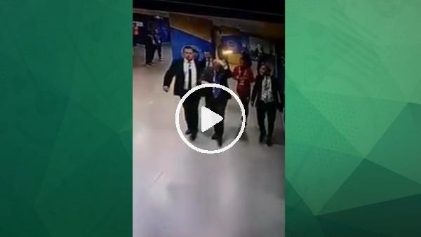 Şenol Güneş'in olaylı Fenerbahçe derbisinde soyunma odasına gidiş görüntüleri