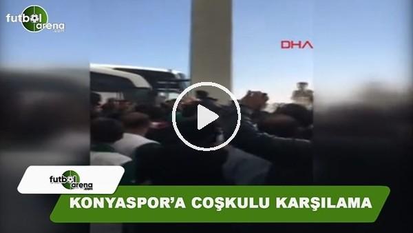 Konyaspor'a coşkulu uğurlama