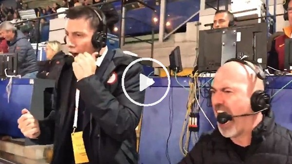 İtalyan spiker, Manolas'ın golünden sonra çıldırdı
