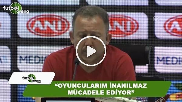 """Sergen Yalçın: """"Oyuncularım inanılmaz mücadele ediyor"""""""