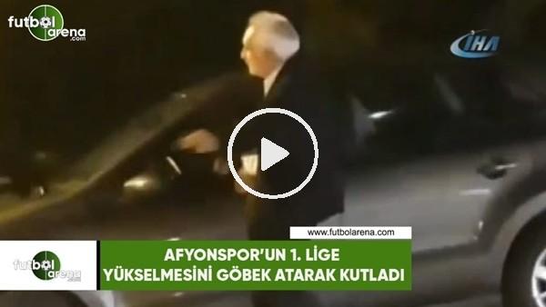 Yaşlı amca, Afjet Afyonspor'un 1. Lige yükselmesini göbek atarak kutladı