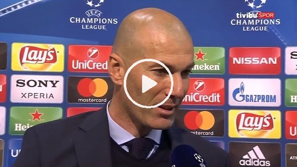 """'Zinedine Zidane: """"Juventus maçı da aynıydı ama sonunda gülen taraf hep biz olduk"""""""