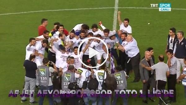 Afjet Afyonsporlu futbolcuların 1. lig sevinci!