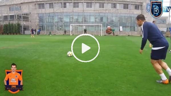 Emre Belözoğlu'ndan antrenmanda muhteşem frikik golü