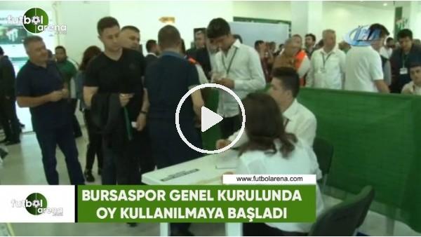Bursaspor Genel Kurulunda oy kullanılmaya başlandı