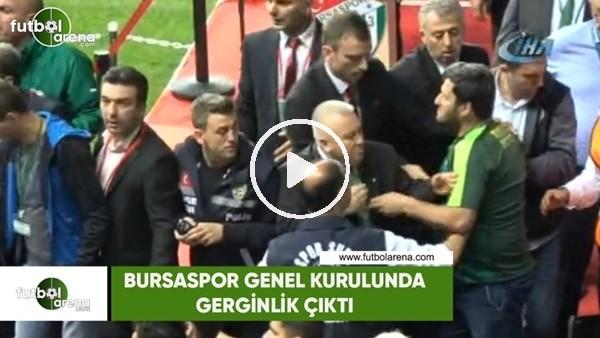 Bursaspor Genel Kurulunda büyük gerginlik çıktı