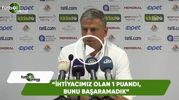 """Hamza Hamzaoğlu: """"İhtiyacımız olan 1 puandı. Bunu başaramadık"""""""