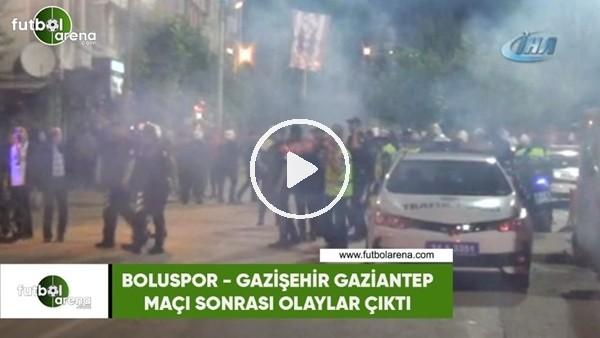 'Boluspor - Gazişehir Gaziantep maçı sonrası olaylar çıktı