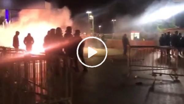 'Marsilya taraftarı maç sonu polisle çatıştı!