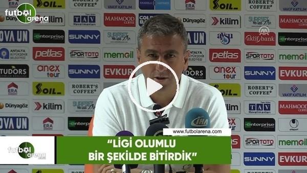 """Hamza Hamzaoğlu: """"Ligi olumlu bir şekilde bitirdik"""""""