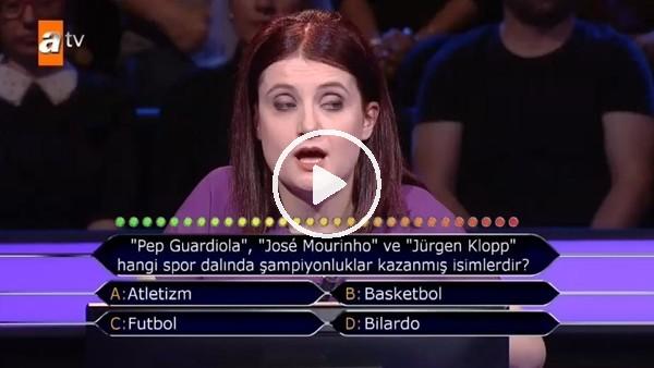 Kadın yarışmacıyaGuardiola, Mourinho ve Kloppsorusu sorulursa...