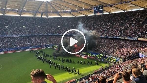 Hamburg küme düştü, tribünler yandı!