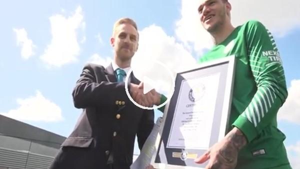 Ederson, Guinness rekorlar kitabına girdi