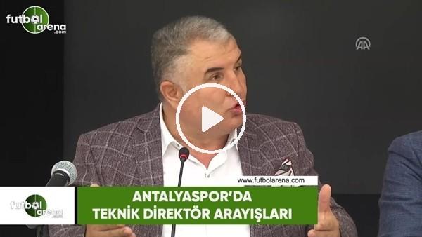 Antalyaspor'da teknik direktör arayışları