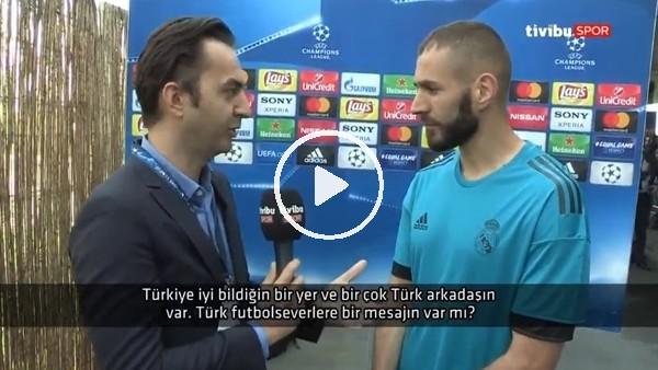 """Karim Benzema'dan Türk futbolsevelere mesaj! """"Finalde bizi destekleyin, beraber kazanalım"""""""
