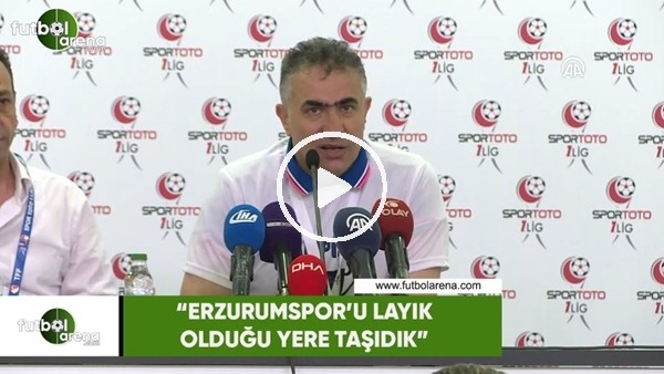"""Mehmet Altıparmak: """"Erzurumspor'u layık olduğu yere taşıdık"""""""