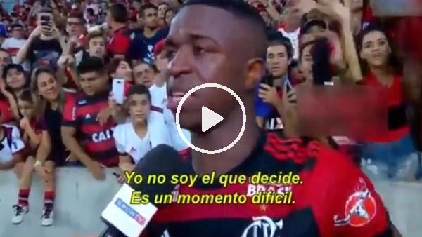 Vinicius, Flamengo'ya gözyaşlarıyla veda etti